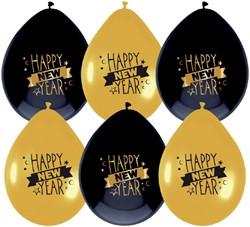 BALLON HAZA HAPPY NEW YEAR 6 STUK