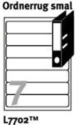 Ordnerrugetiketten en insteekkaarten voor printers