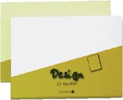 KAART DUBBEL PAPYRUS DESIGN 105X148MM WIT 15 KRT