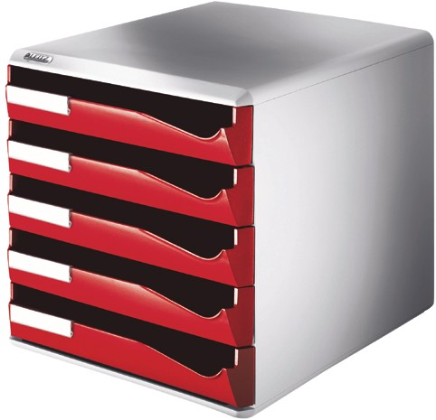 Ladenbox leitz 5280 5ldn rood 1 stuk bij datas for Ladenblok rood