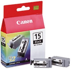 INKCARTRIDGE CANON BCI-15 2X ZWART 2 STUK