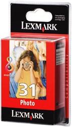 INKCARTRIDGE LEXMARK 31 18C0031E FOTO KLEUR 1 STUK