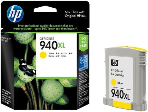 INKCARTRIDGE HP 940XL C4909AE HC GEEL 1 Stuk