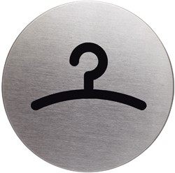 INFOBORD PICTOGRAM DURABLE GARDEROBE ROND 83MM 1 STUK