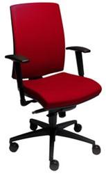 Beta bureaustoel Katwijk Stofgroep 2 - Zacht geremde wielen voor harde vloeren - Rood