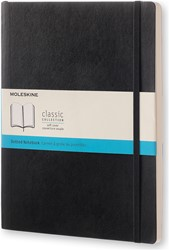 NOTEBOOK EXTRA LARGE BLACK HARDCOVER DOTTED