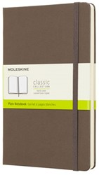 NOTEBOOK LARGE EARTH BROWN HARDCOVER BLANCO