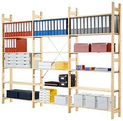 Aanbouw massiefhouten legbord stellingsysteem 40DX200HX103B