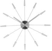 wandklok NeXtime dia. 58 cm metaal, zilver, 'Plug inn'