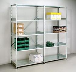 Verzinkt metalen legbord aanbouw stellingsysteem 30DX200HX100B