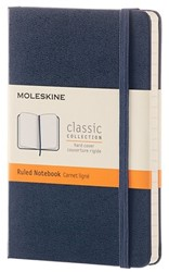 NOTEBOOK POCKET SAPPHIRE BLUE HARDCOVER RULED