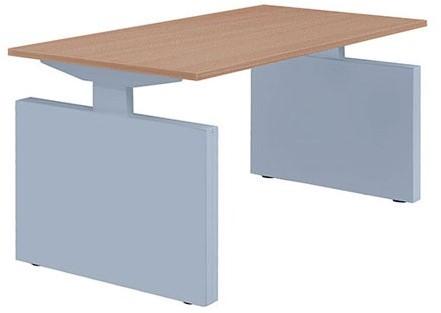 Tafel huislijn basic bureau recht met zijwangen 80x80 bz1000